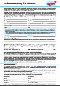 Aufnahmeantrag für Förderer